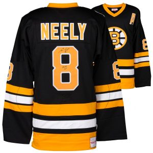 "Autographed Boston Bruins Cam Neely Fanatics Authentic Black Mitchell & Ness Jersey with ""HOF 2005"" Inscription"