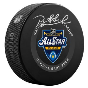 Autographed Boston Bruins David Pastrnak 2020 NHL All-Star Game Official Game Puck