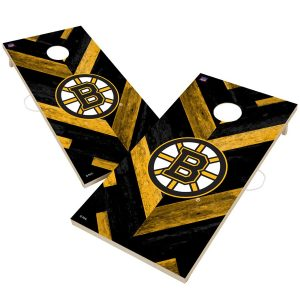 Boston Bruins 2′ x 4′ Herringbone Design Cornhole Set
