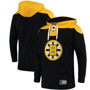 Boston Bruins Fanatics Branded Franchise Pullover Hoodie – Black