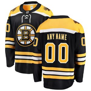 Boston Bruins Fanatics Branded Home Breakaway Custom Jersey – Black