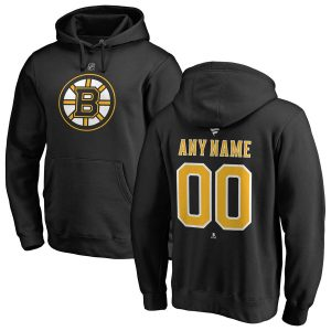 Boston Bruins Fanatics Branded Personalized Team Authentic Pullover Hoodie – Black