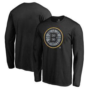 Boston Bruins Fanatics Branded Static Logo Long Sleeve T-Shirt – Black