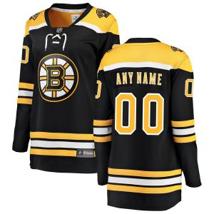 Boston Bruins Fanatics Branded Women's Home Breakaway Custom Jersey – Black