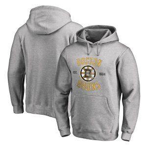 Boston Bruins Heritage Pullover Hoodie – Ash