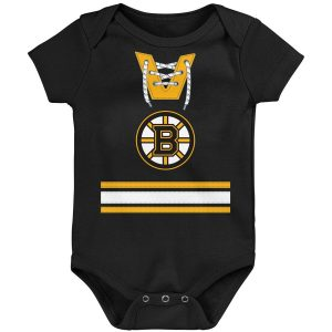 Boston Bruins Newborn & Infant Jersey Bodysuit – Black