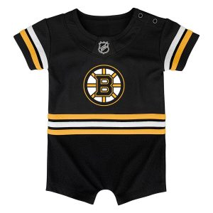Boston Bruins Newborn & Infant Replica Jersey Bodysuit – Black