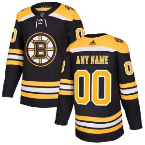 Boston Bruins adidas Authentic Custom Jersey – Black