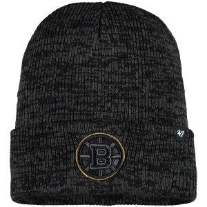 Men's Boston Bruins '47 Black Brain Freeze Cuffed Knit Hat