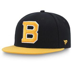 Men's Boston Bruins Fanatics Branded Black Alternate Logo Fitted Hat