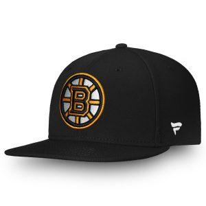 Men's Boston Bruins Fanatics Branded Black Core Emblem Adjustable Snapback Hat