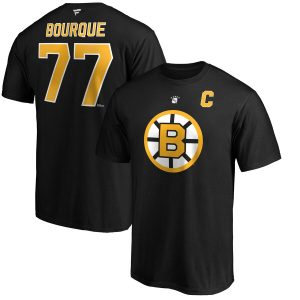Ray Bourque Boston Bruins Authentic Stack Retired Player Name & Number T-Shirt – Black